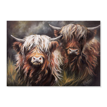 Picture of Two Highland Lasses - Canvas