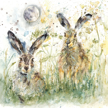 Picture of Lunar Hares - Canvas