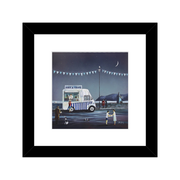Picture of Fish And Chip Supper, Lynmouth - A22