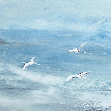 Picture of Shore Birds I SE - Canvas