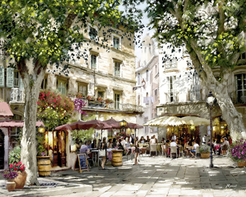 Picture of Plaza Café - Canvas
